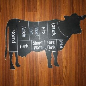 Other - Rustic Farmhouse Home Wall Decor Wood Cow